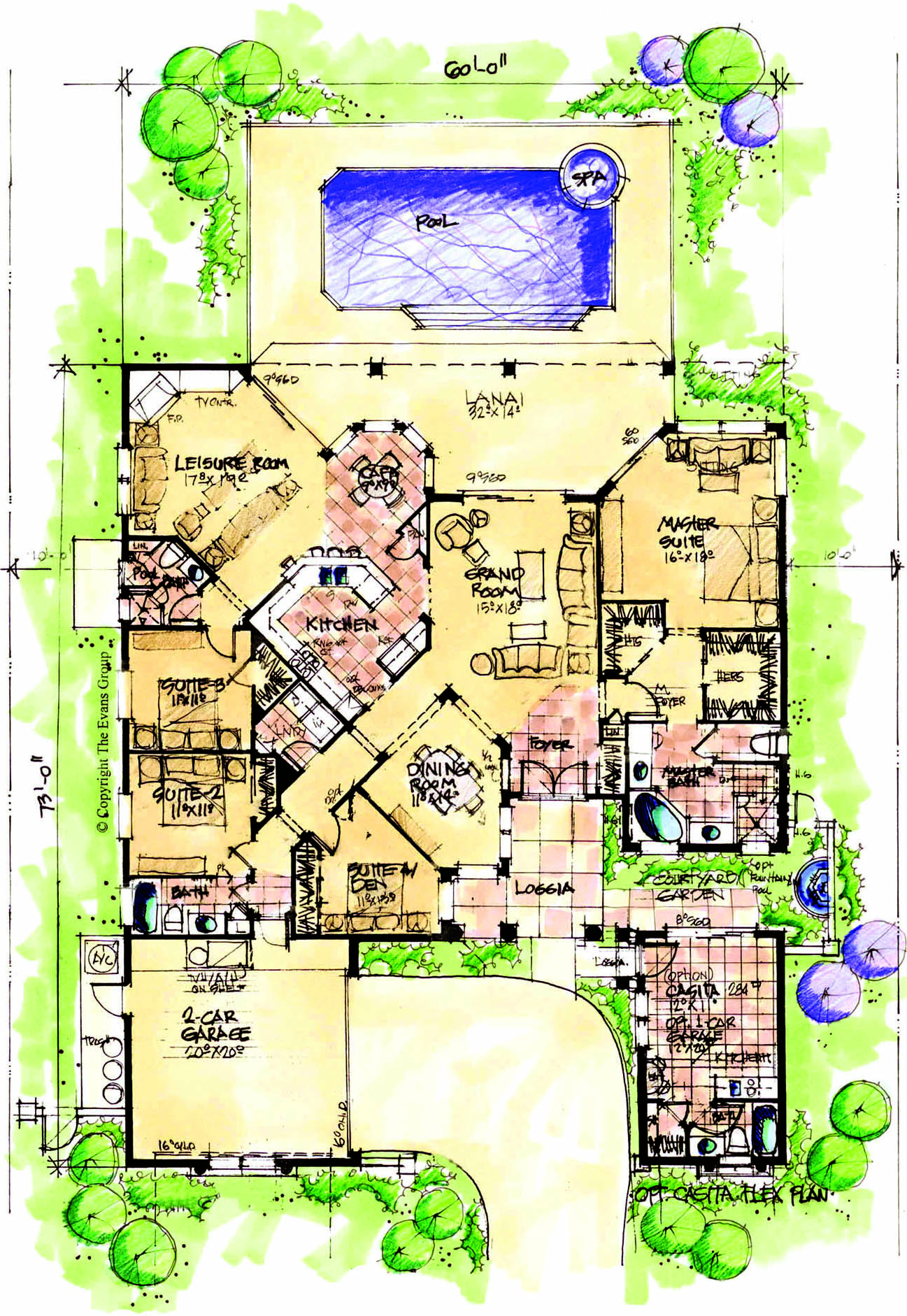 b c - House Plans With Attached Casita