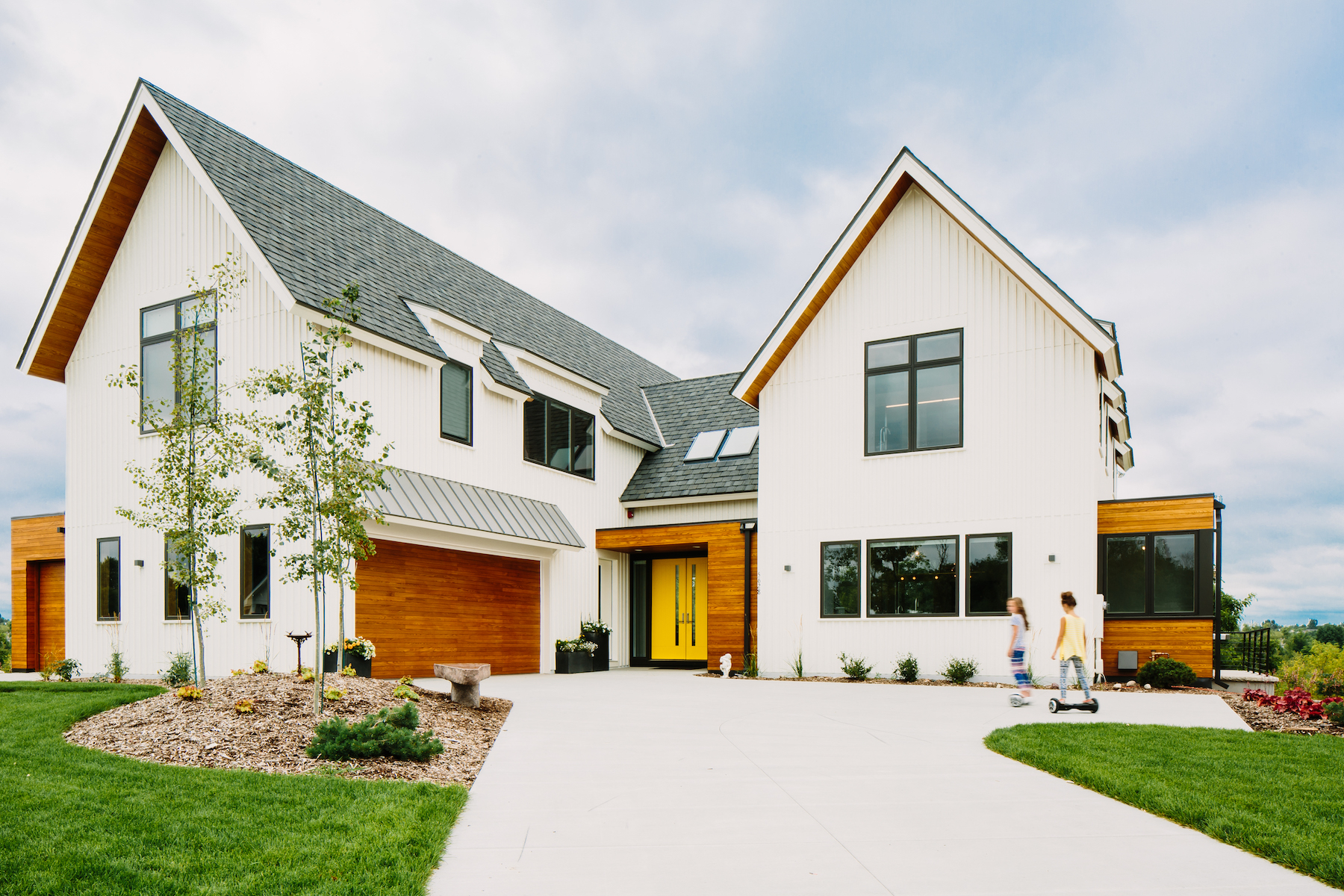 The 4,696-square-foot home features Uponor plumbing, fire sprinkler and radiant floor heating systems.