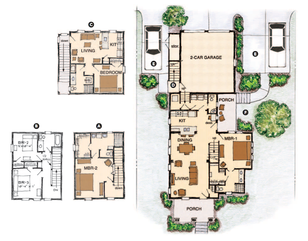 House review multigenerational homes professional builder for Concept home plans review