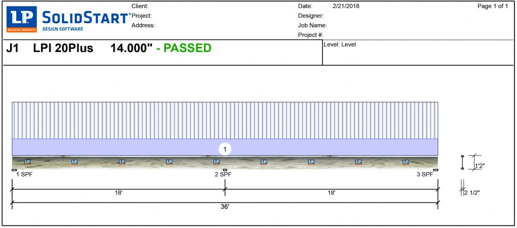 """Using software programs, dealers and builders can design the floor system to meet both code requirements and performance metrics. For example, this output from LP's SolidStart Design Software [Link: https://lpcorp.com/products/resources/software-downloads/lp-solidstart-design-software/] shows a multi-span I-joist designed at 16"""" o.c. which, coupled with a high-performance sub-floor, would be suitable for a custom home application."""