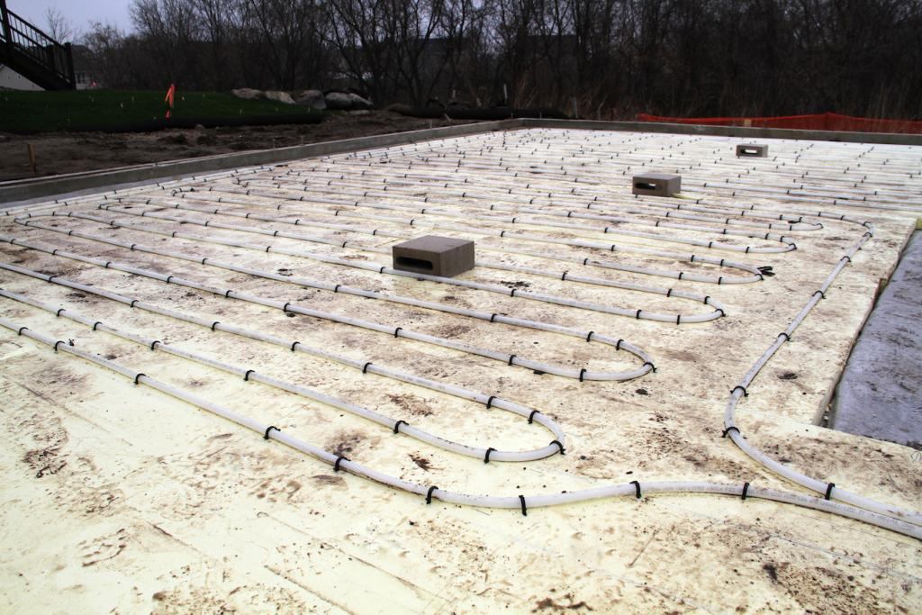 The radiant system uses 3,400 ft. of Wirsbo hePEX™ tubing for an even, comfortable, energy-efficient warmth.