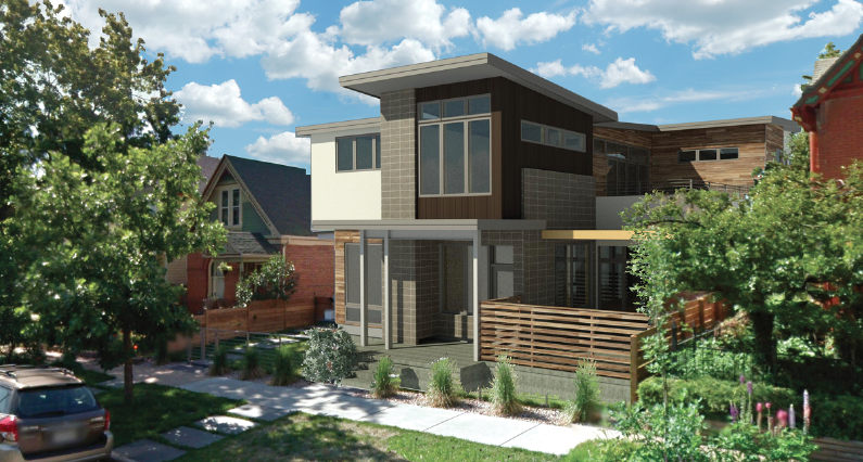 House Review-KGA Studio Architects-Luxury infill-3D exterior rendering