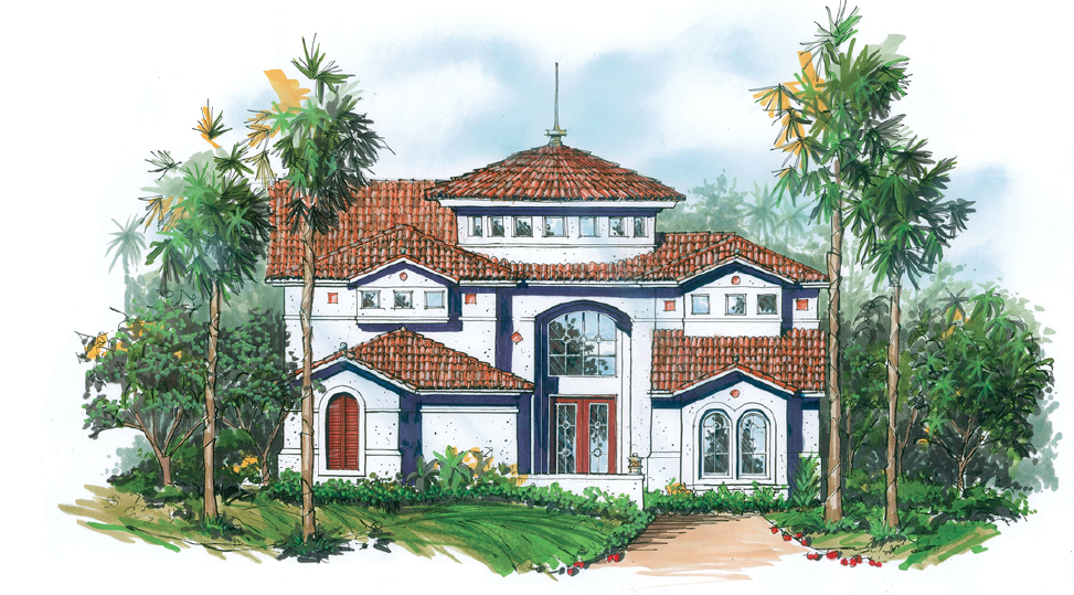 House Review-The Evans Group-Small-Package Luxury-front elevation-rendering