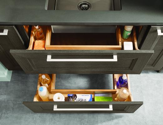 Floating Shelves And U Shape Drawers Are Among The New Kitchen Cabinet  Products From KraftMaid Cabinetry. The Shelves Provide Accessible Storage  And Come In ...