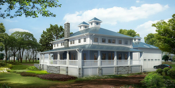 This foursquare-style home will be the model at Serosun Farms when the community opens in May 2015.