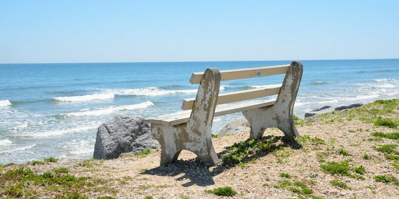 bench on a beach