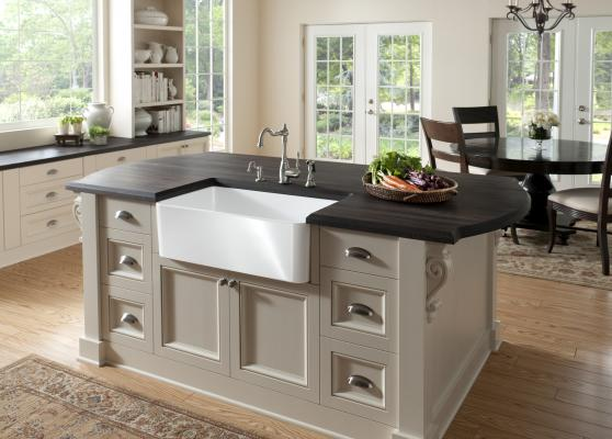 The Cerana Apron Front Sink From Blanco Is The Brandu0027s First Fireclay Sink  In The U.S. The Sink Is Fired At More Than 2,100°F For Up To 20 Hours And  Is ...