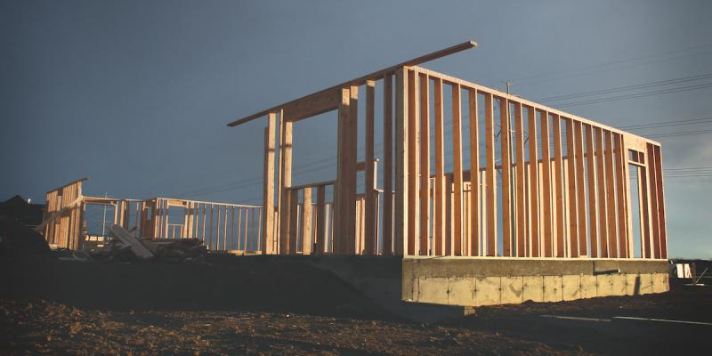 timber framed house structure-photo