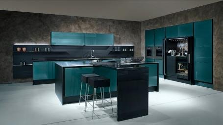 Green modern kitchen, photo courtesy Poggenpohl