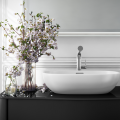 Victoria + Albert's statement-making vessel basin, Barcelona 55, is offered in seven finishes and is cast in a single piece of ENGLISHCAST®, a durable composite of Volcanic Limestone™.