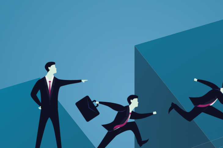 Graphic_of_business_suit_man_jumping_a_gap_leadership_Illustration: inamar/stock.adobe.com
