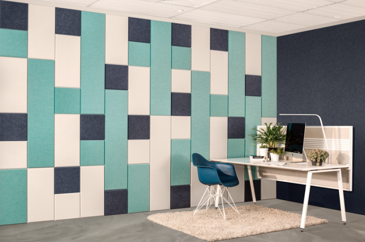 EchoPanel Balance Tiles, the latest modular acoustic tiles from Woven Image