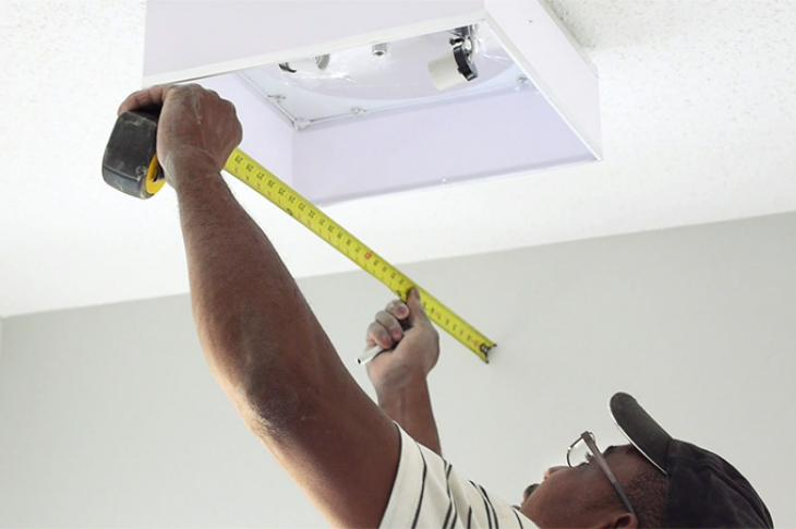 Electrician doing installation Marv Verlage / Levven Electronics
