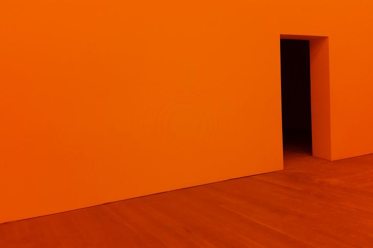Orange wall and floor
